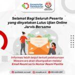 Pengumuman Hasil Ujian Online JARVIS BERSAMA 2021